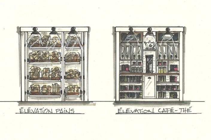 kiosque de p tisserie clo design. Black Bedroom Furniture Sets. Home Design Ideas